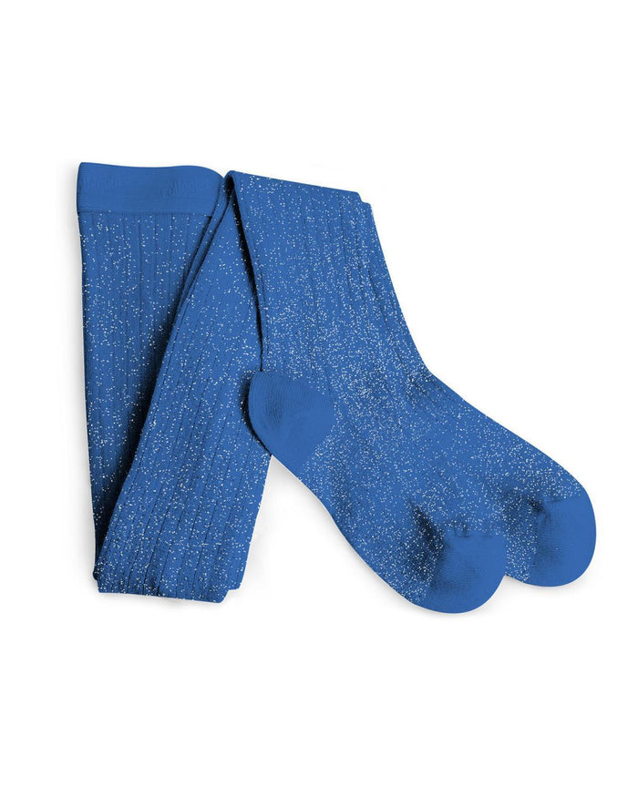 Little collegien accessories 0/3m / . glittery tights in bleu cobalt