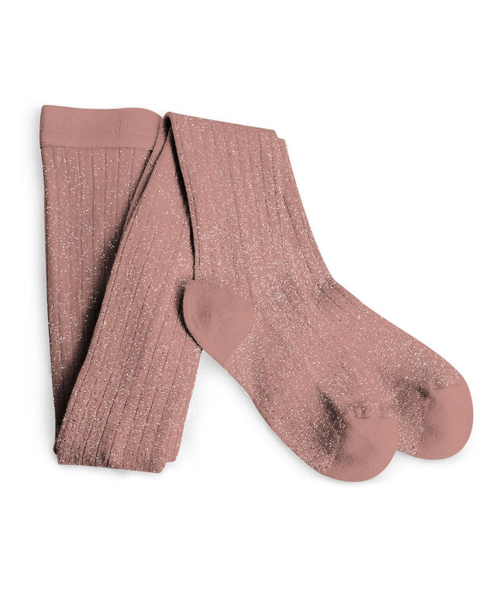Little collegien accessories 0/3m glittery tights in bois de rose