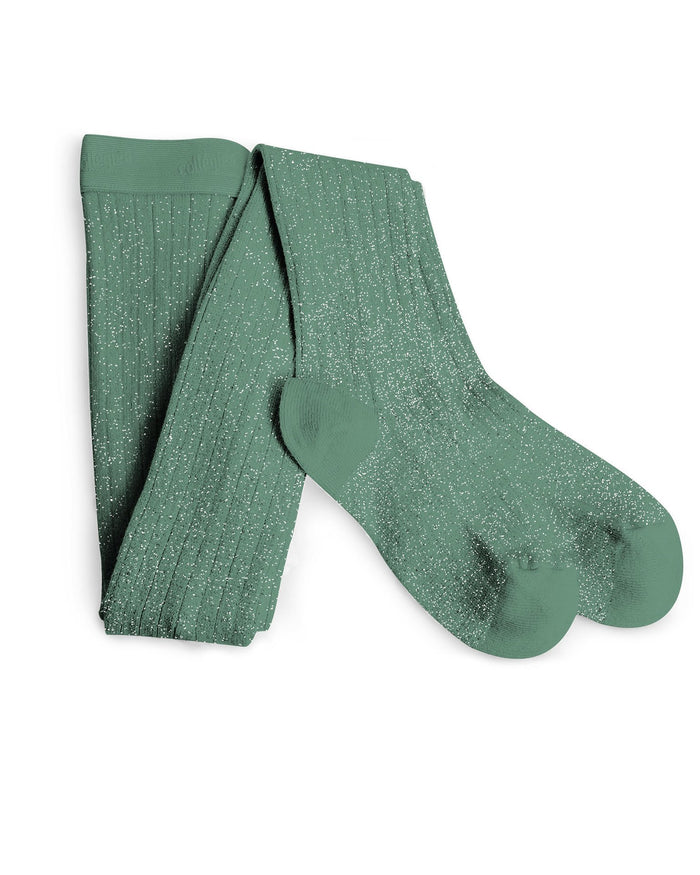 Little collegien accessories glittery tights in celadon