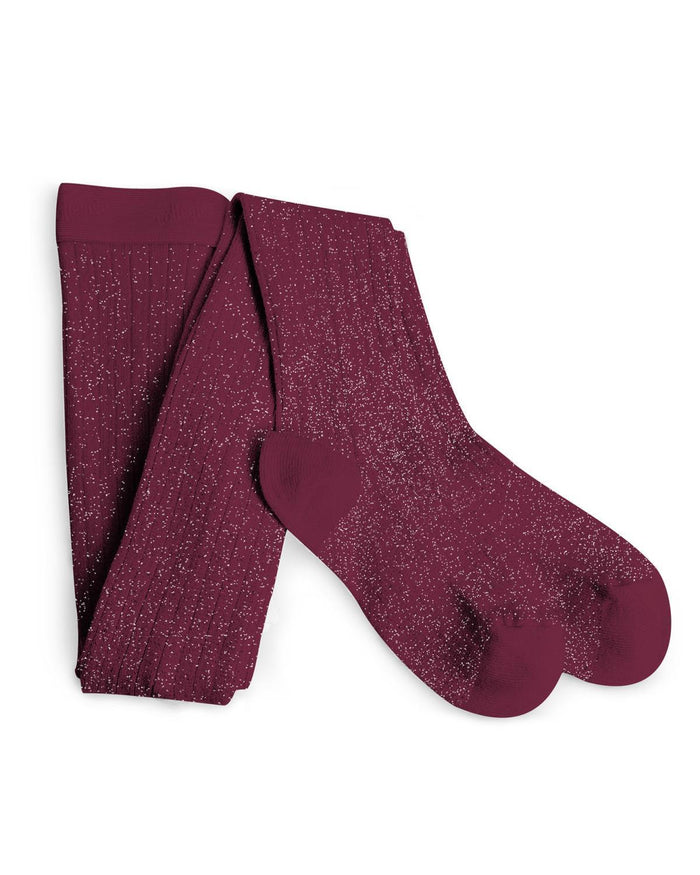 Little collegien accessories 0/3m glittery tights in marsala