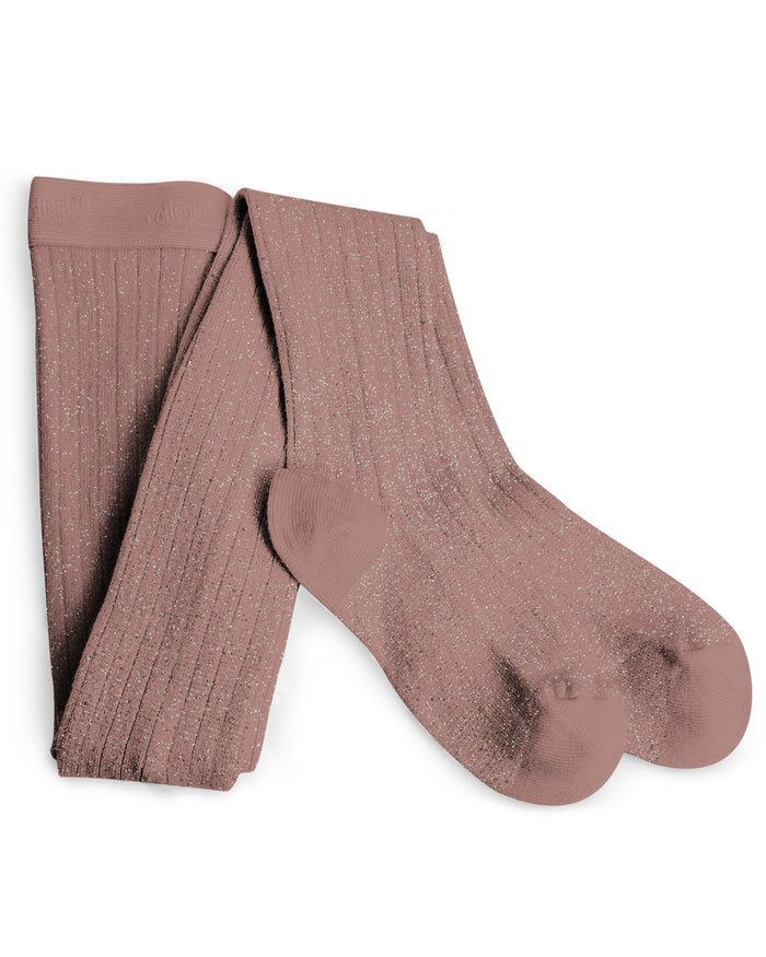 Little collegien accessories glittery tights in praline de lyon