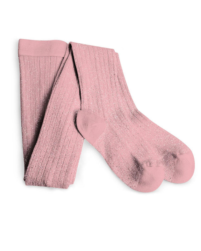 Little collegien accessories 0/3m glittery tights in rose quartz