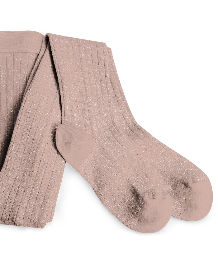 Little collegien accessories glittery tights in vieux rose