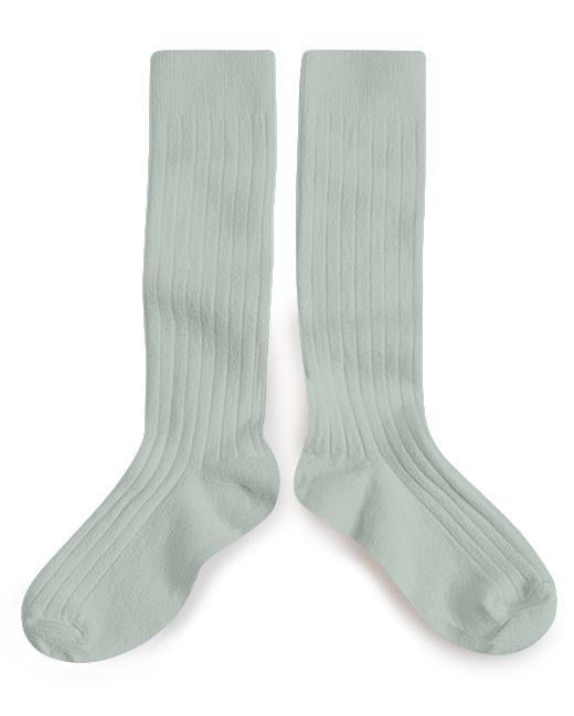 Little collegien accessories ribbed knee high socks in aigue marine