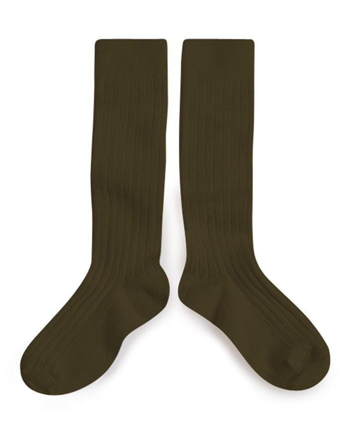 Little collegien accessories 18/20 ribbed knee high socks in cactus du mexique