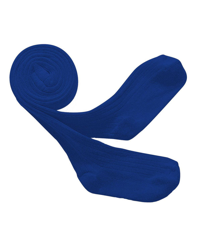 Little collegien accessories 0/3m ribbed tights in bleu eclatant