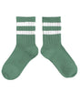 Little collegien accessories ribbed varsity knee high socks in celadon