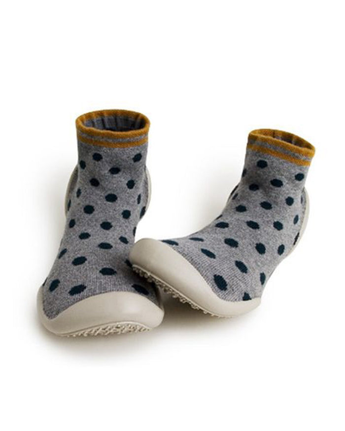 Little collegien accessories slipper socks in dotsy