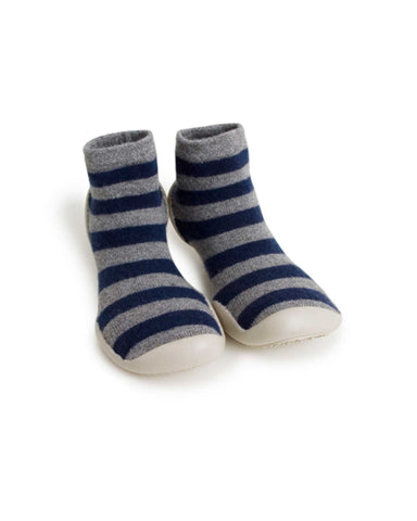 Little collegien accessories slipper socks in mountain stripes