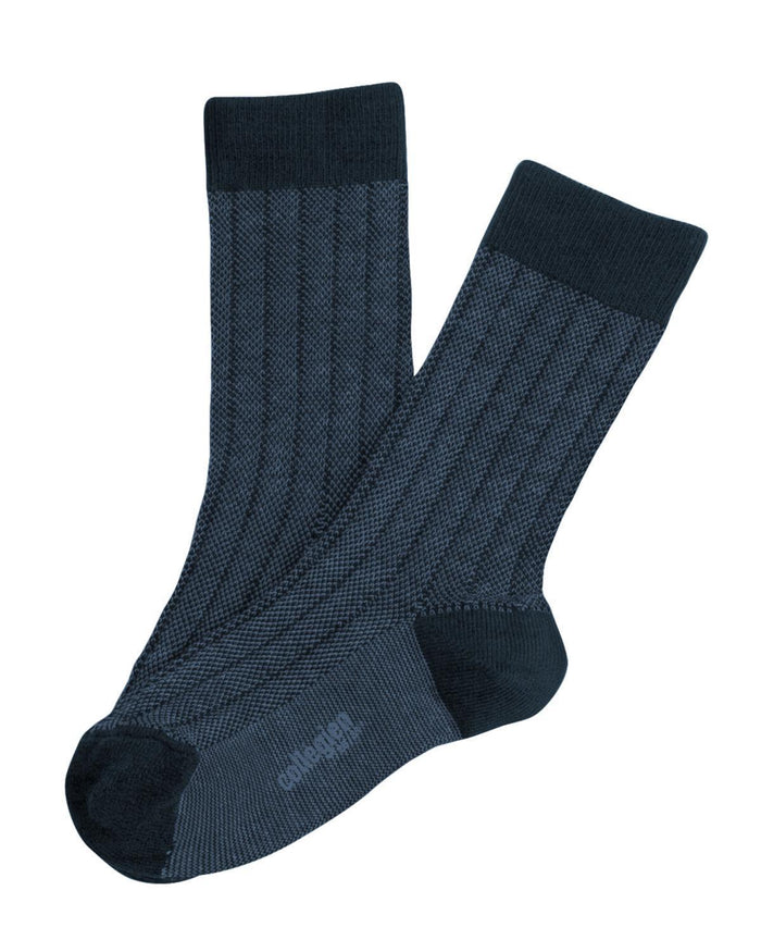 Little collegien accessories 18/20 two tone ankle socks in navy