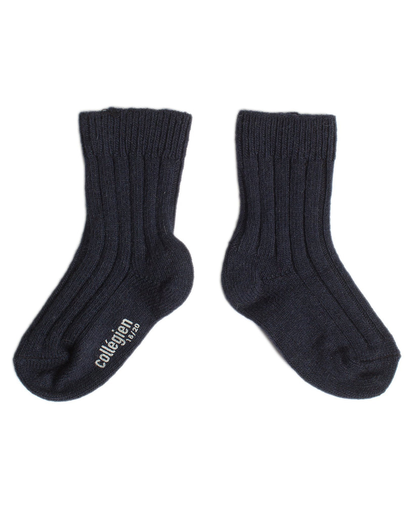 Little collegien accessories wool + cashmere socks in douce nuit