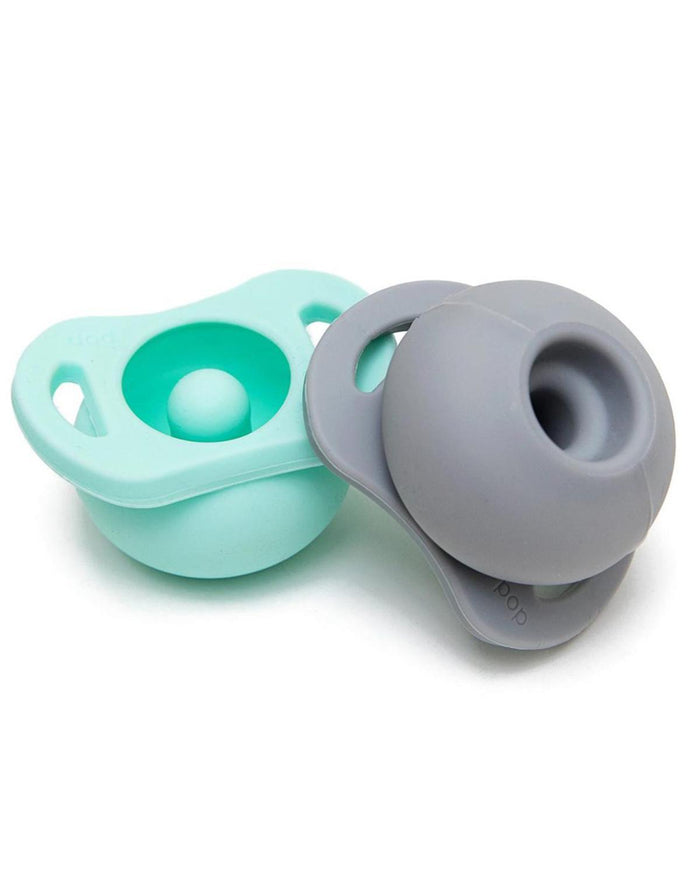 Little doddle + co. baby accessories the pop twin pack in mint + grey