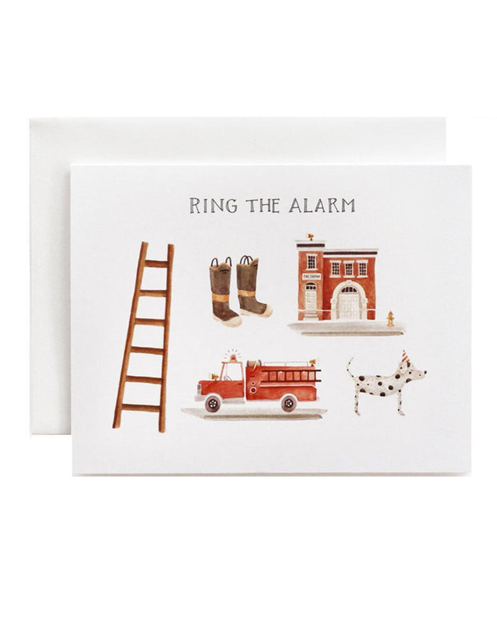 Little eldebery & sons paper+party ring the alarm card
