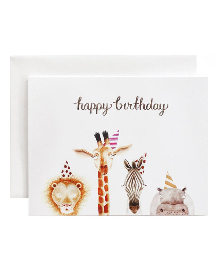 Little eldebery & sons paper+party safari birthday card