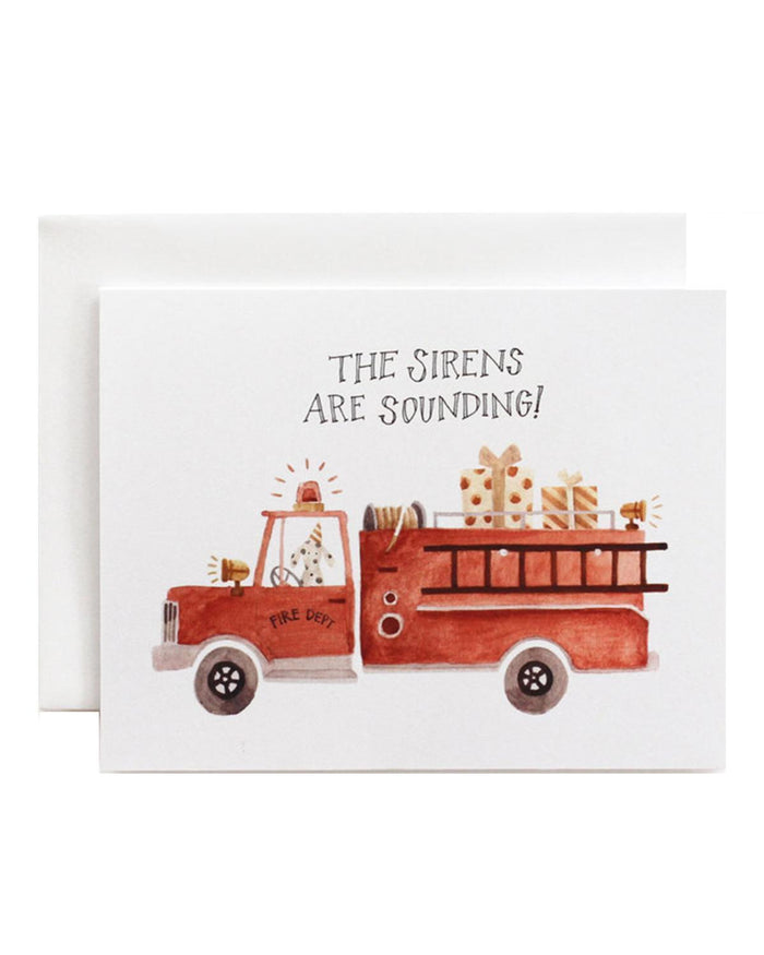 Little eldebery & sons paper+party the sirens are sounding card