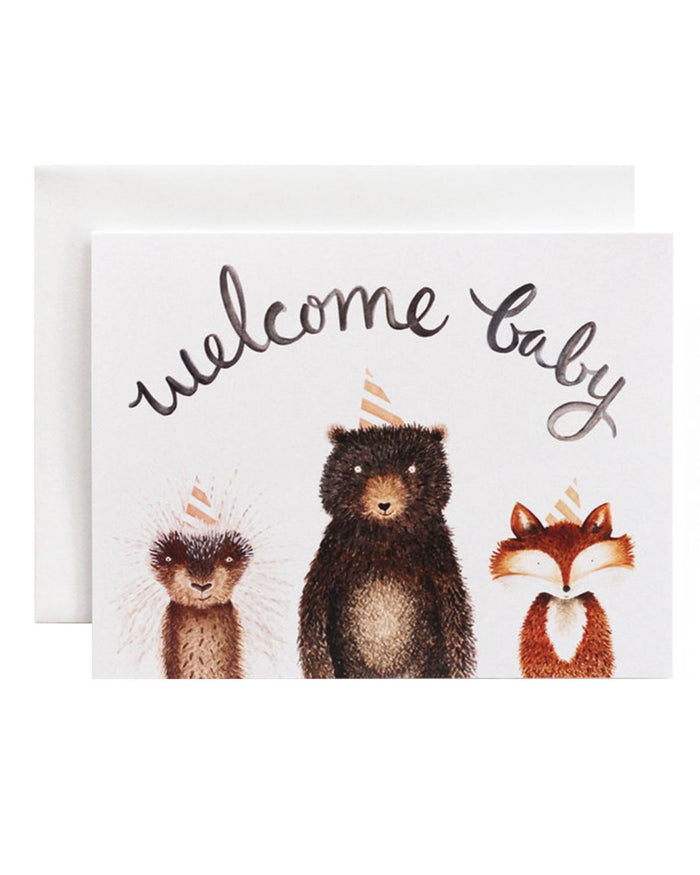 Little eldebery & sons paper+party welcome baby card 2