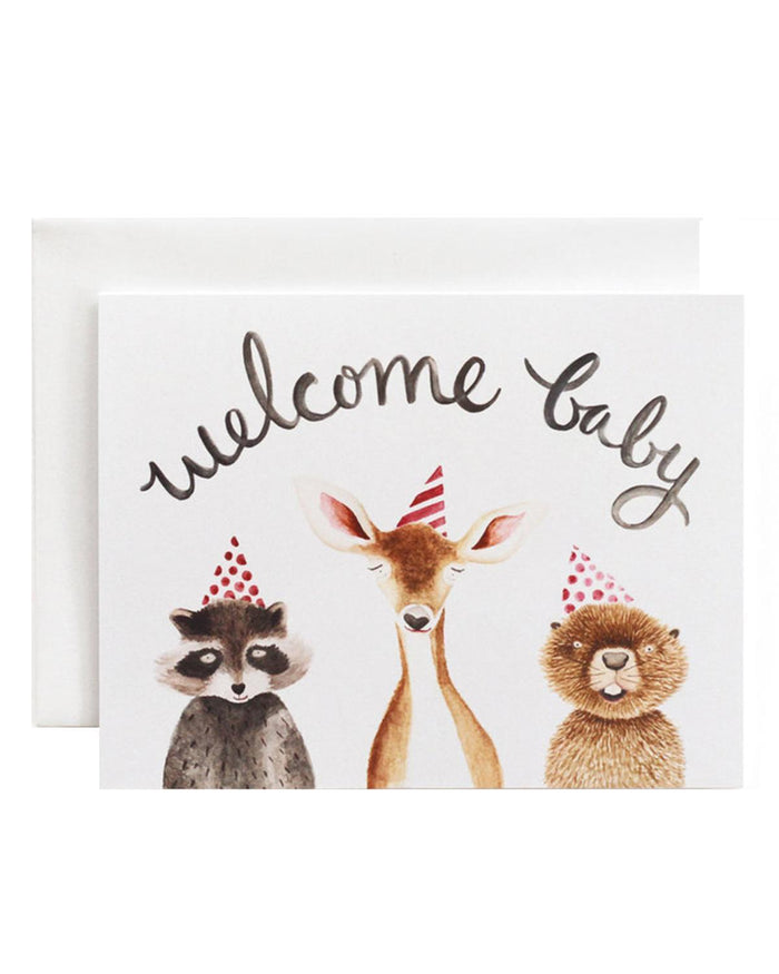 Little eldebery & sons paper+party welcome baby card
