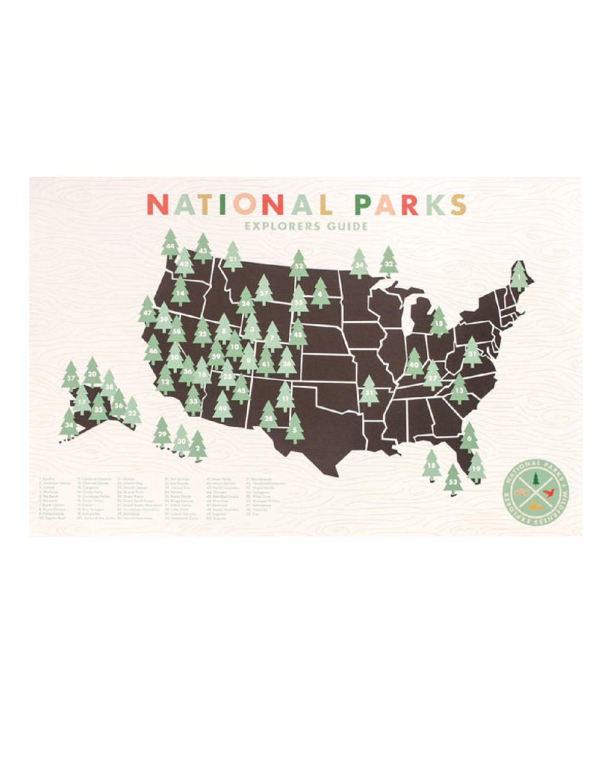 Little ello there room National Parks Map