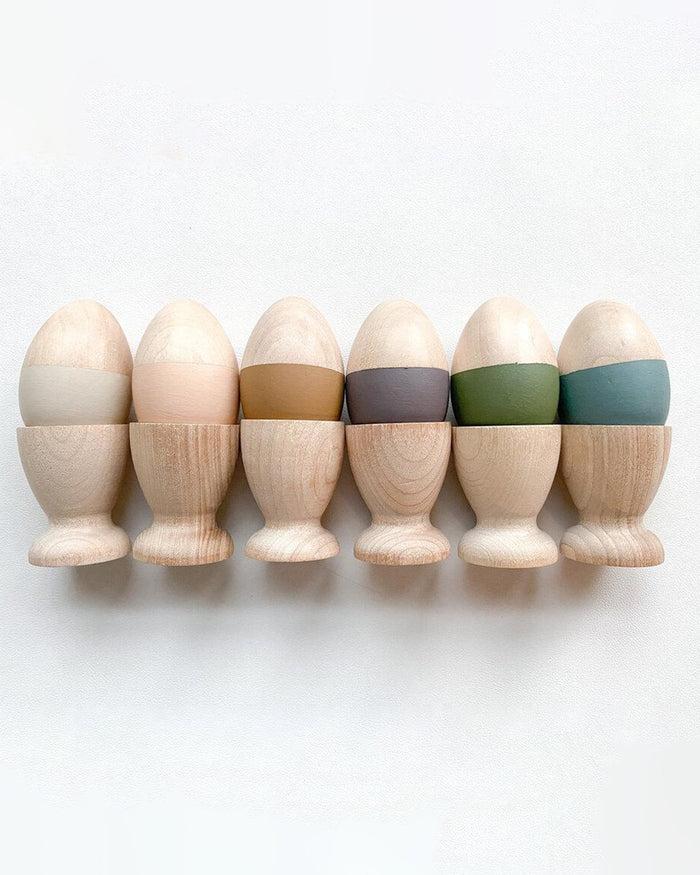 Little elm + otter play egg + cup sorting set in muted tones