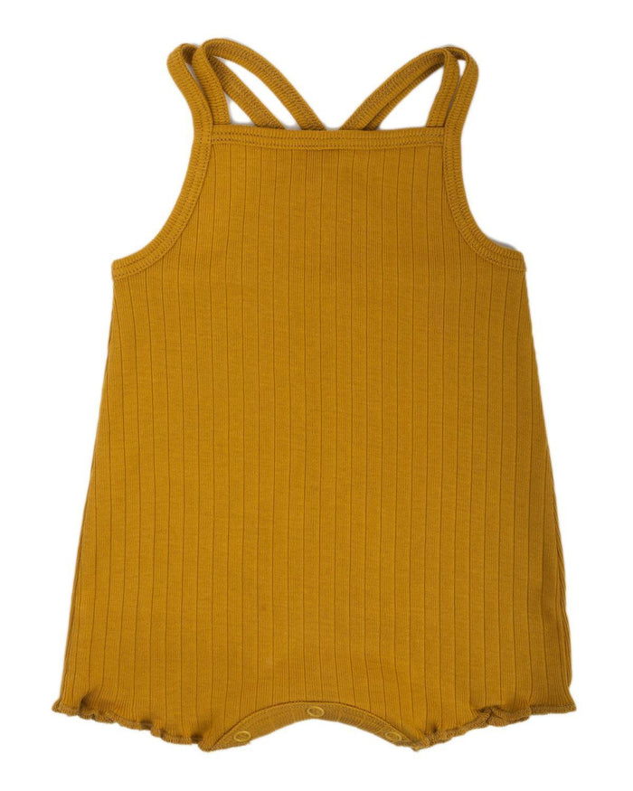 Little fin + vince baby girl 0-3 double strap playsuit in honeycomb