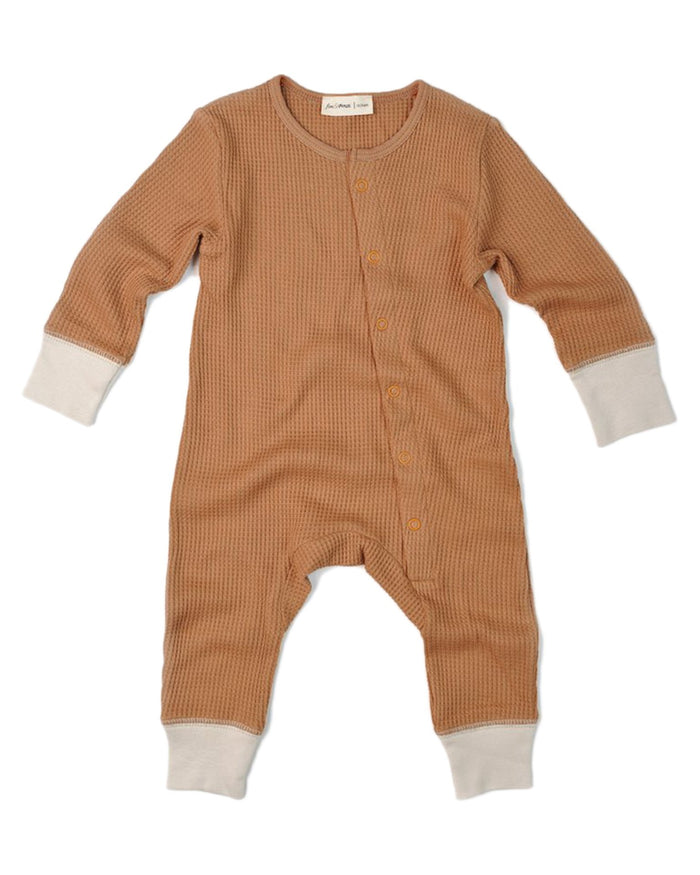 Little fin + vince baby boy long john in camel