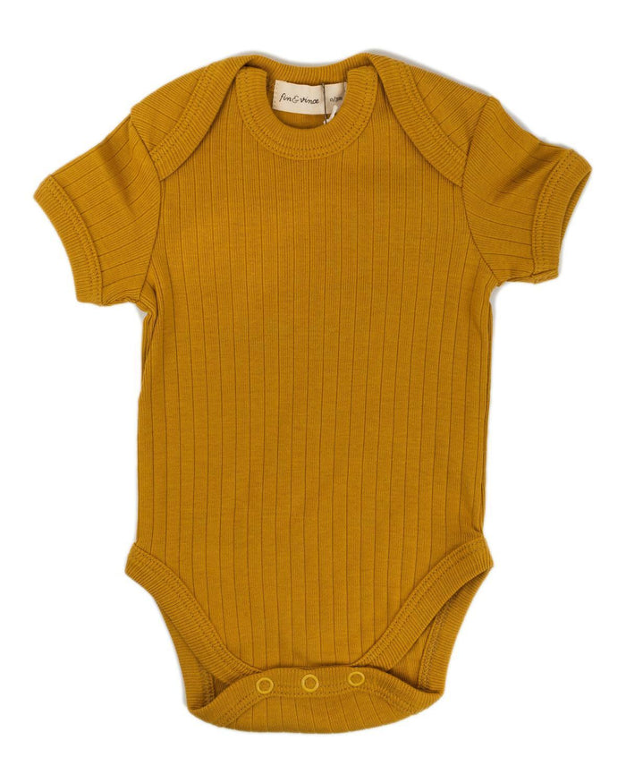 Little fin + vince baby boy 0-3 primary onesie in honeycomb