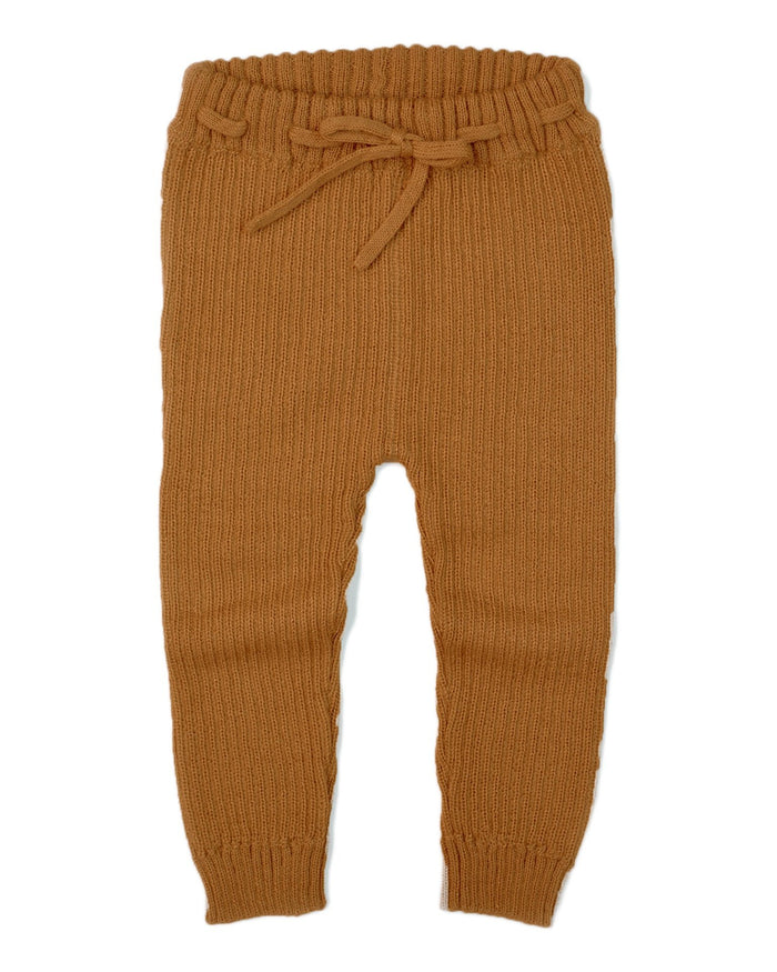 Little fin + vince baby boy ribbed alpaca legging in honeycomb