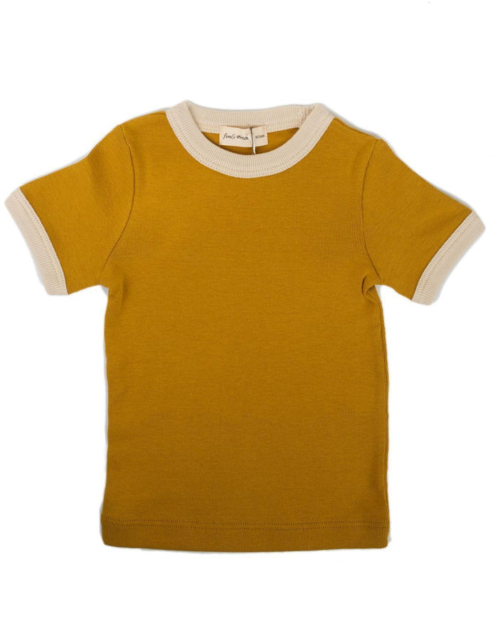 Little fin + vince boy 6-12 vintage tee in honeycomb