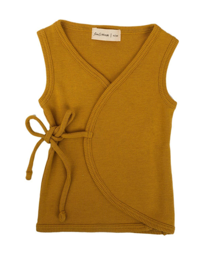 Little fin + vince baby boy 0-3 wrap tank in honeycomb