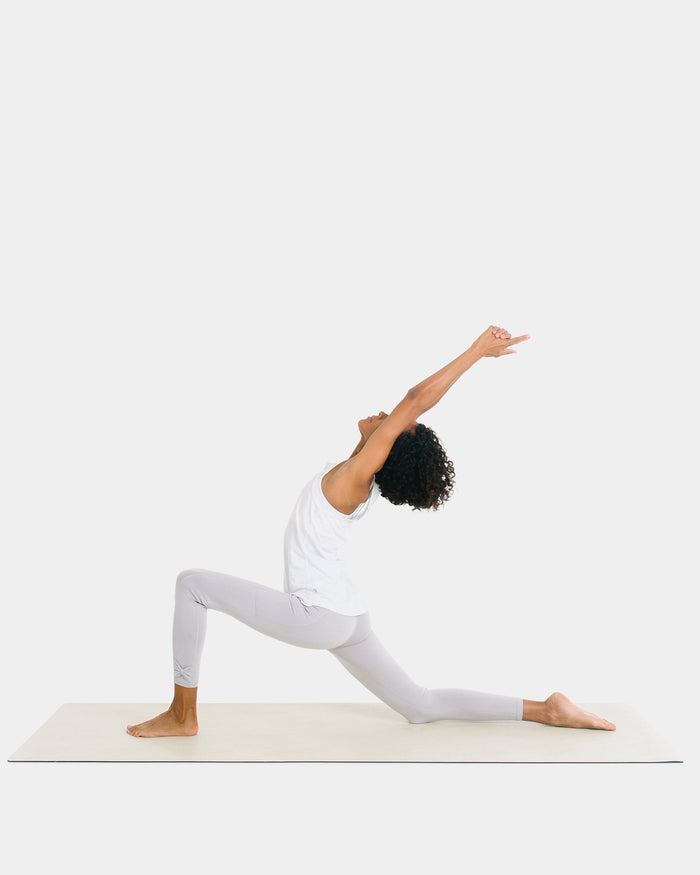 Little gathre play adult yoga mat in blanc