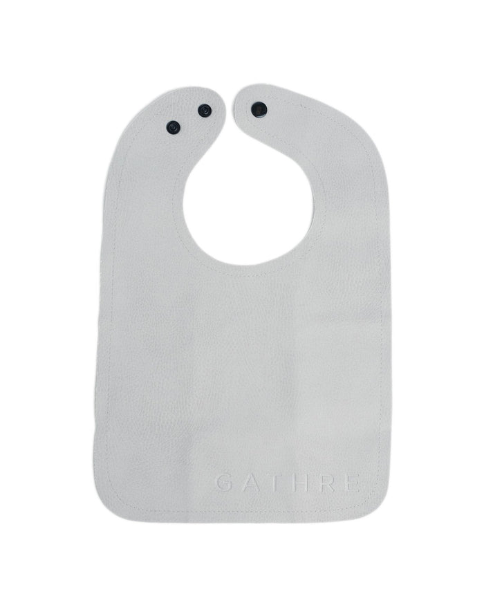 Little gathre baby accessories bib in pewter