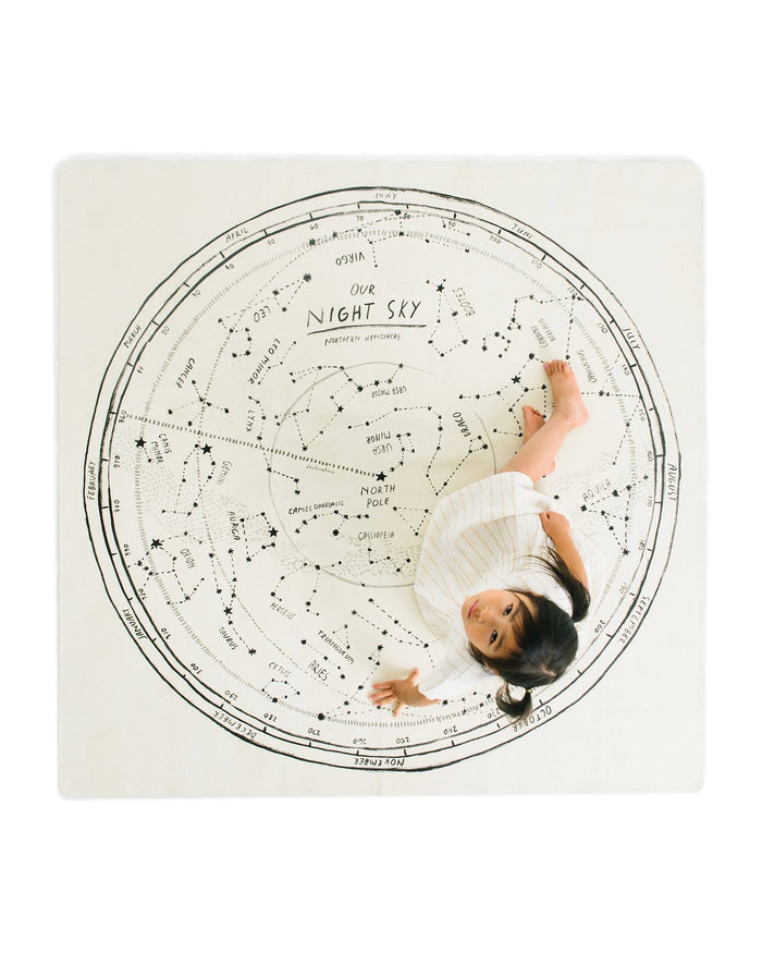 Little gathre play midi mat in constellation square