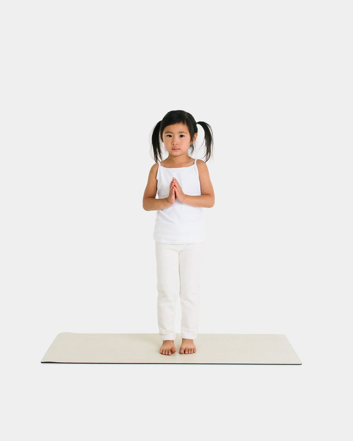 Little gathre play toddler yoga mat in blanc