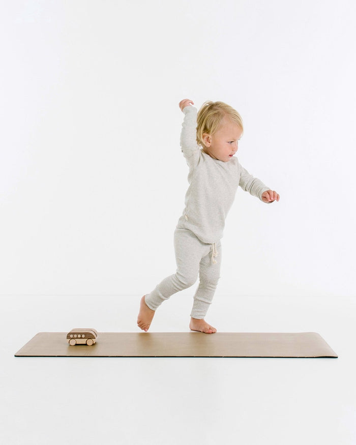 Little gathre play toddler yoga mat in tannin