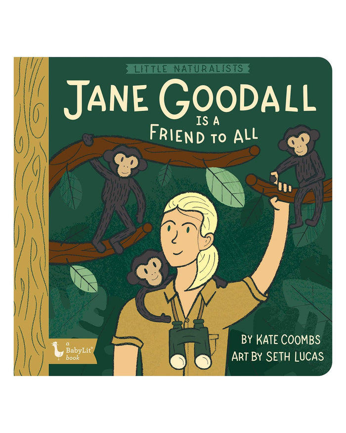 Little gibbs smith publisher play little naturalists: jane goodall is a friend to all