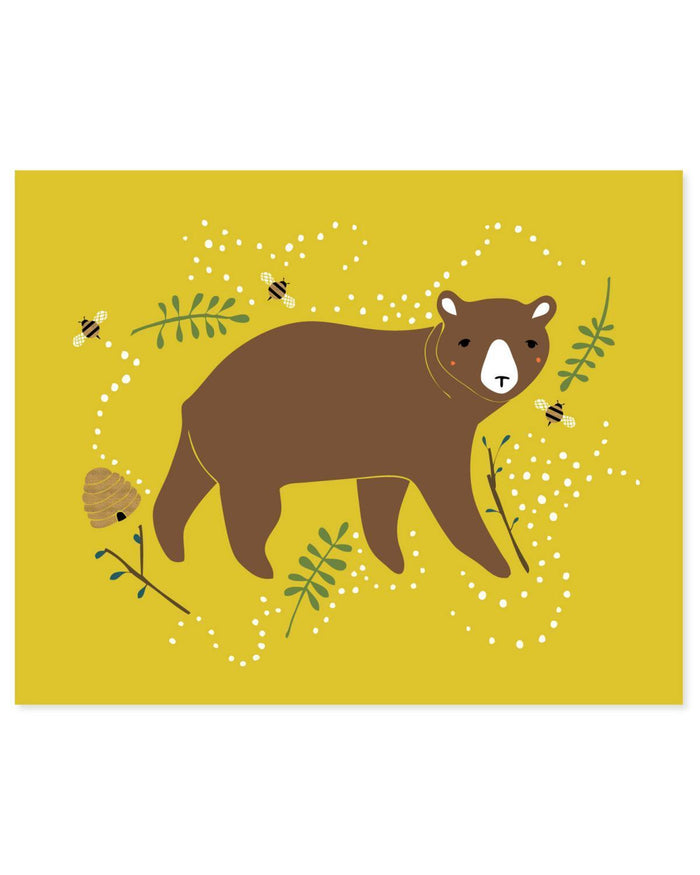 Little gingiber room Enchanted Bear Print