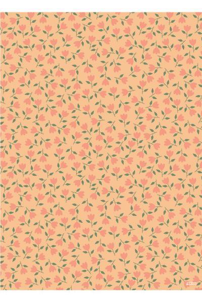Little gingiber paper+party Orange Flowers Wrap