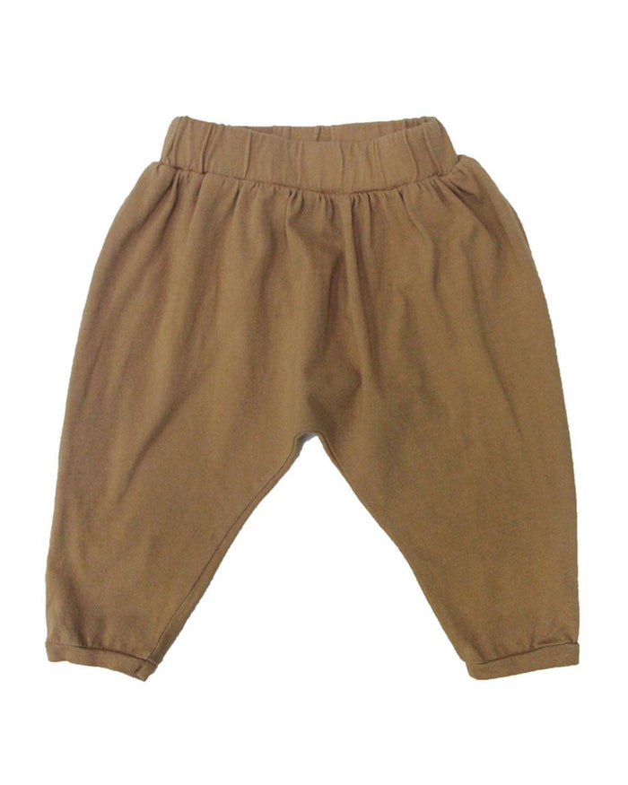 Little go gently nation boy 2 baggy harem in flax