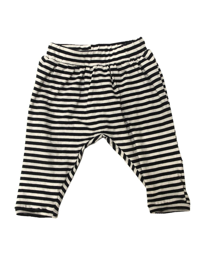 Little go gently nation boy 2 baggy harem in navy stripe