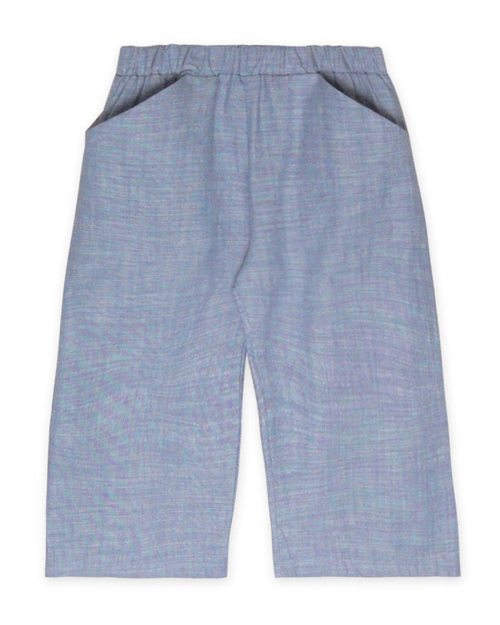 Little go gently nation girl 2 culotte in chambray