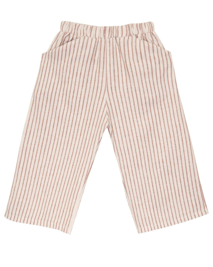 Little go gently nation girl culotte in hazelnut stripe