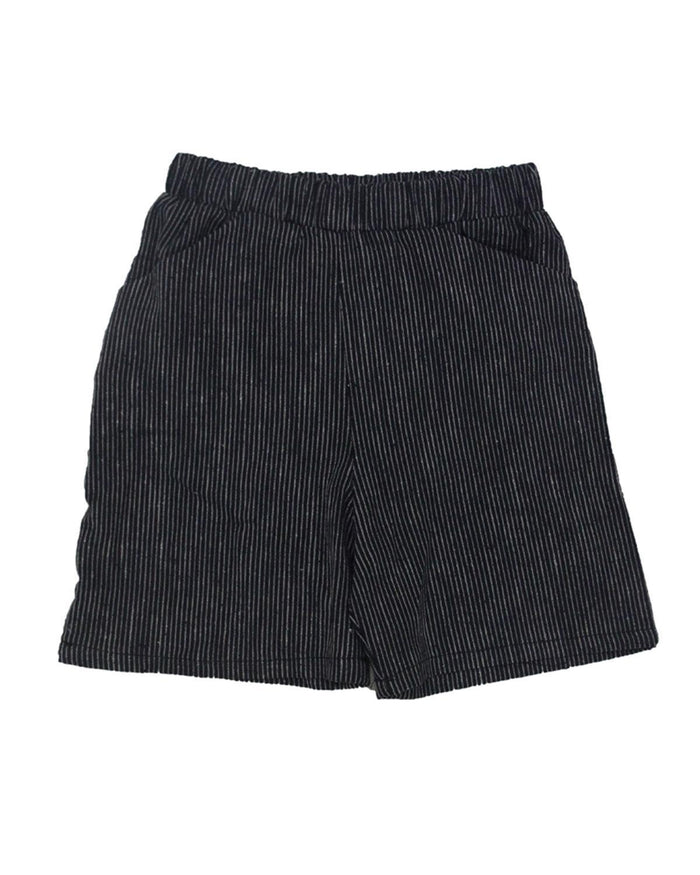 Little go gently nation girl 2 culotte in navy mini stripe