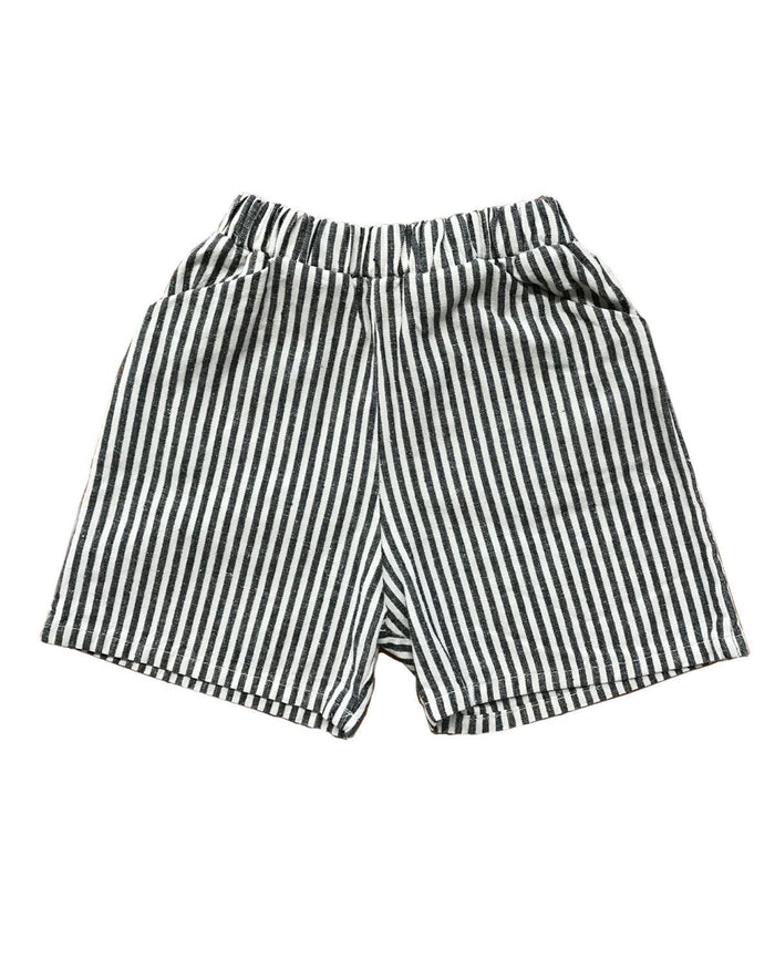 Little go gently nation girl 2 culotte in vertical natural stripe