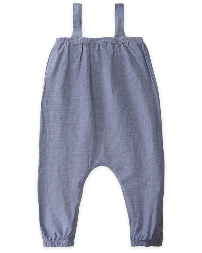 Little go gently nation girl 2 farm girl jumpsuit in chambray