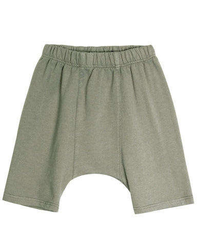 Little go gently nation girl french terry panel short in thyme