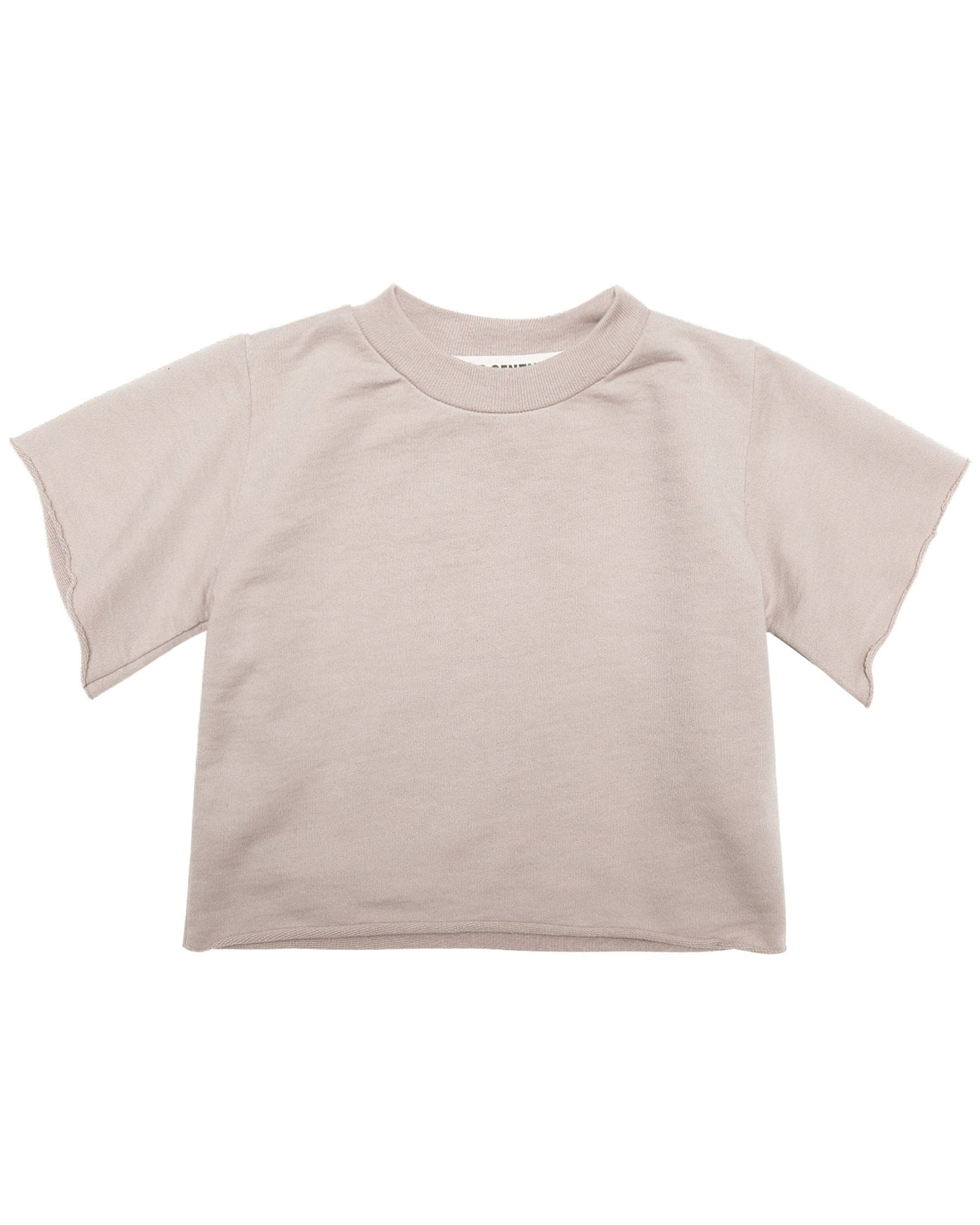Little go gently nation girl french terry tee in sandstone