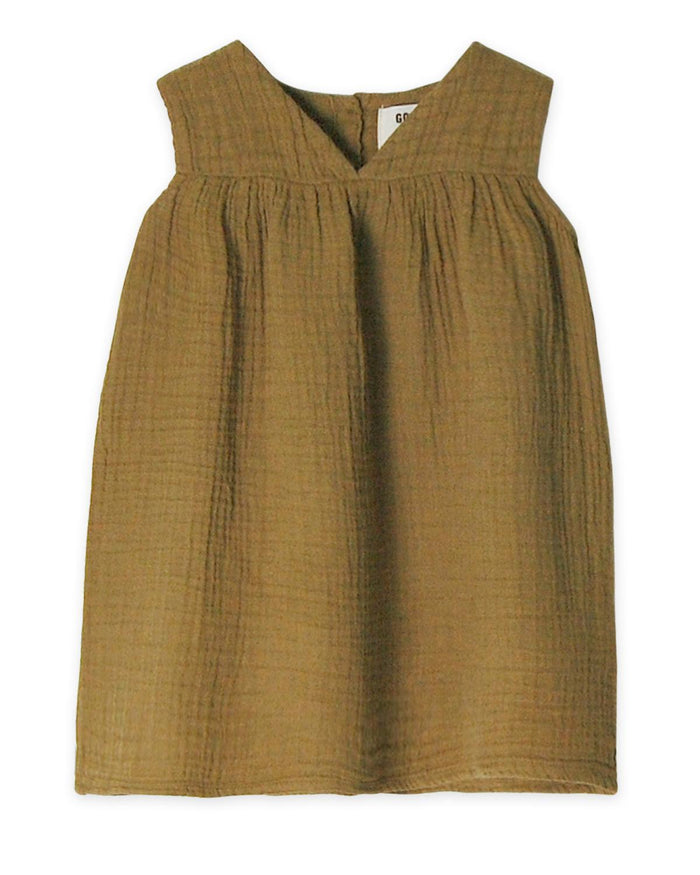 Little go gently nation girl 2 gauze frock in fennel