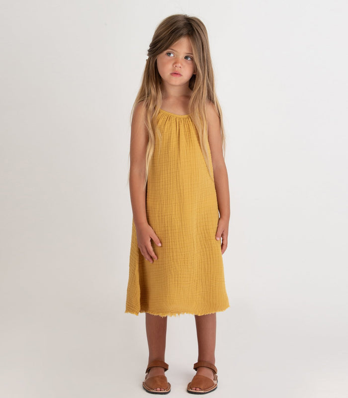Little go gently nation girl gauze sundress in golden