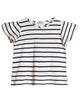 Little go gently nation girl jersey flutter tee in navy stripe
