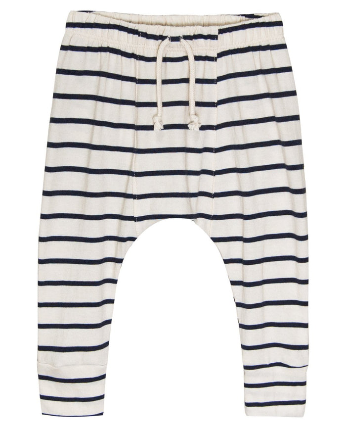 Little go gently nation girl jersey harem in navy stripe
